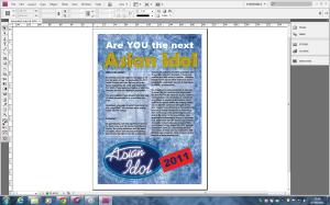 Screenshot of Adobe Indesign 5