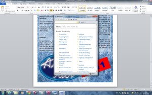 Built-in Help Function for Microsoft Word 2011