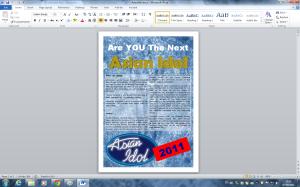 Screenshot of Microsoft Word 2010