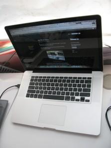 A Macbook Pro, 15 inch.